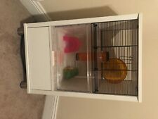 hamster cage used with accessories 2 foot 6 inches tall 1 foot 6 inches wide