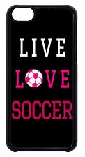 Cute Soccer Girl Pink Futbol Ball Quote Hard Case Cover For Apple iPod 4 5 6