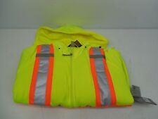 MEN'S WORK KING CLASS 2 HI-VISIBILITY NEON REFLECTIVE HOODED SWEATSHIRT SZ 5XL