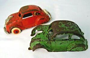 Hubley Kenton Airflow Antique Cast Iron Vintage Toy Sedan Coupe w/ extra body