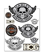 "HARLEY OWNERS GROUP ""HOG"" SKULL DECAL SHEET ""SHIPS INTERNATIONAL"""