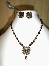 Vintage Avon SP Aurora Borealis Pendant Necklace Matching Earrings