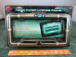 RedLine Neon Fader License Plate Frame #2506 Green New Old Stock