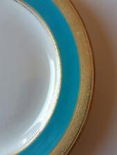 3) - Assiette ancienne plate XIXe Worcester 1876 Angleterre bleu celeste ( C )