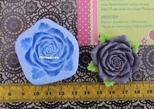 Maxi Moule silicone Fleur - rose fimo, porcelaine, plâtre, résine, pâte à sucre