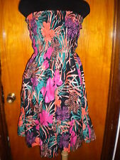 Victoria's Secret Moda Int Tropical Strapless Tube Sexy Sundress Dress XS New