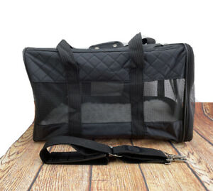Sherpa Original Deluxe Pet Carrier Medium Soft Side Dog Travel Bag Black