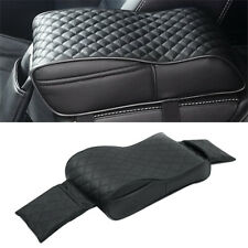 Car Armrest Pad Cover Center Console Memory Foam PU Leather Cushion Waterproof