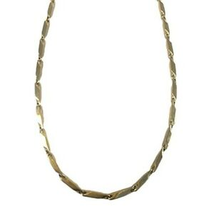 New - Nikken Kenko Perfect Link Magnetic Necklace Stainless Steel Gold Plated