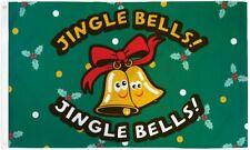 Jingle Bells Flag 3x5ft Christmas Flag Holiday House Flag Seasonal Decor Novelty