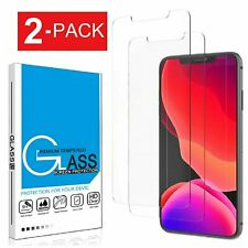 2-Pack For iPhone 11 Pro 6s 7 8 Plus X Xs Max XR Tempered GLASS Screen Protector