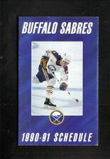 Doug Bodgers--Buffalo Sabres--1990-91 Pocket Schedule--Marine Midland Bank