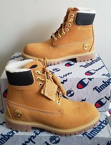 NEW TIMBERLAND® x CHAMPION PREMIUM 6 INCH WATERPROOF WARM LINED BOOT YOUTH US 3