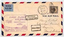 CE88 AVIATION USA 1930 First Flight Cover FAM 10 Air Mail Miami US CONSUL Guiana