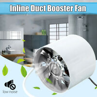 "4"" Exhaust Booster Vent Fan Inline Duct Blower Grow Tent Ventilation"