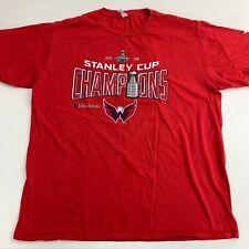 NHL Washington Capitals T Shirt Mens XL Red Stanley Cup Champions Short Sleeve