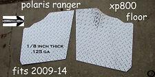 POLARIS RANGER XP800 FULLSIDE 1/8 thick  DIAMOND PLATE FLOOR BOARDS 2009-14