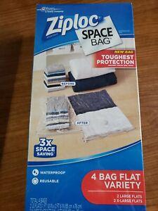 Ziploc Space Bag 4 Bag Flat Variety