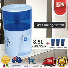 Benchtop Water Cooler Chiller Filter 8.5L Office Dispenser Resin Carbon Purifier