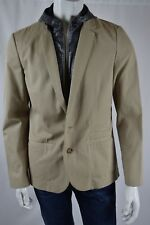 New 7 FOR ALL MANKIND  BLAZER REMOVABLE for Men SZ Medium IN BEIGE