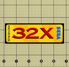 "CUSTOM MADE COLLECTIBLE SEGA GENESIS 32X LOGO MAGNET (4¾""x1⅝"")"