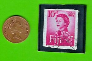 FIJI 1986 > 1 CENT > OLD COIN LOT # 2 (*-*) + STAMP