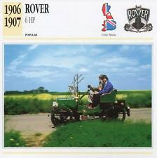 1906-1907 ROVER 6 HP Classic Car Photograph / Information Maxi Card