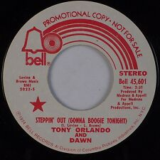 TONY ORLANDO & DAWN: Steppin' Out (Gonna Boogie) BELL DJ PROMO 45 NM-