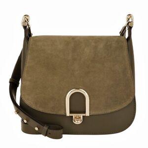 Michael Kors Shoulder Bag Delfina LG Saddle Bag Olive New 30t7gdzm3s