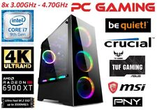 Gaming PC Core i7-9700, Radeon RX 6900 XT 16GB, 2TB M.2 SSD, 32 GB RAM, 850 Watt