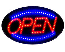 "Delux Ultra Bright Jumbo Size Flash Motion 24""x 13"" LED Neon Open Sign Light U30"