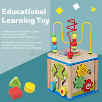 Wooden Round Beads Maze Baby Educational Learning Toys Intelligence Developmen
