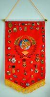 50 Russian Soviet USSR Medal & badges 'Lenin, USSR, Communist Party'  + Flag