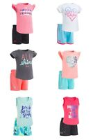 New Under Armour Baby and Toddler Girls Shirt and Shorts Set MSRP $28 $30 $36