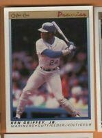 1991 OPC Premier Baseball - #56 Ken Griffey Jr - Seattle Mariners - nrmt/mint