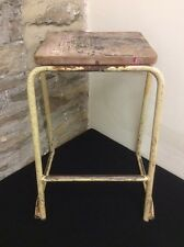 ORIGINAL 1950's KINGFISHER WEST BROMWICH LTD STACKING SCIENCE SCHOOL LAB STOOL