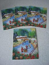 LOT de 4 CARTES de NOEL fantaisies avec enveloppes - NEUVES