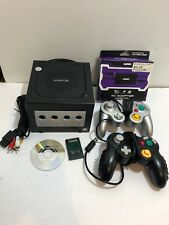 Nintendo GameCube Console System Bundle 2 Controllers Cords Memory + ? Game Oem!