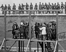 Lincoln Assassination conspirators on the scaffold before hanging New 8x10 Photo