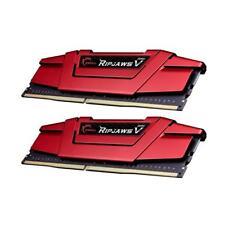 G.Skill 8GB 2X4GB Ripjaws V DDR4 2400MHz CL16 Gaming Desktop Memory RAM Kit Red