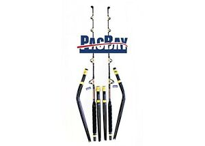 PAIR OF STRAIGHT & BENT BUTT SALTWATER TROLLING PAC BAY ROD ROLLER GUIDES30-50LB