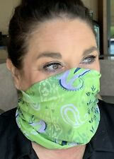 Face Mask Facemask Fishing Gaiter Shield Lime Neck Warmer Bandana Guard Scarf