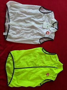 Castelli Squadra Mens Cycling Gilet - White NEW +yellow fluo used