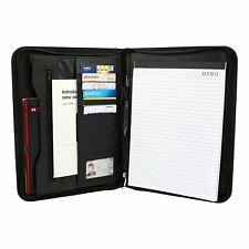 More details for a4 leather folder organiser business zipped portfolio case conference file