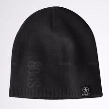 HA Beanie Knit Fur Winter Hat Cap Skull Solid Short Ski Hats Men Women Sports