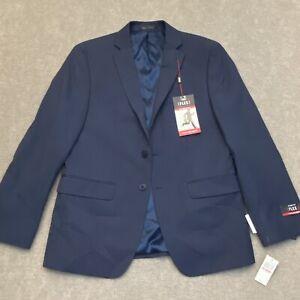 Van Heusen Men's Suit Separate Blue Blazer Size 40 Short Flex Slim Fit $220 New!