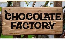 Charlie Chocolate Factory House Plaque Plate Door Sign Kitchens Rustic Fairytale
