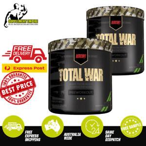 2 X REDCON1 TOTAL WAR Pre Workout Redcon 1 Preworkout 30 servings TWIN PACK