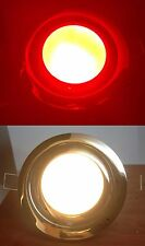 Marine Boat LED Ceiling Light Flush Mount With Clips SS Rim Warm White