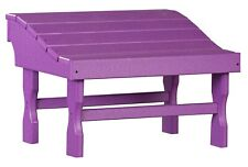 4 Season Outdoor Ottoman Purple All Weather Outdoor Adirondack Footrest Usa Made